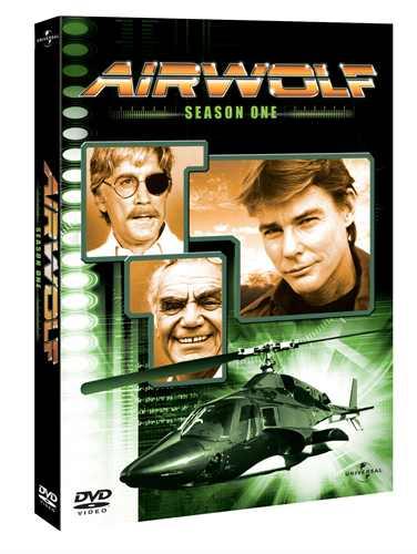 Sånn ser coveret ut, Airwolf sesong 1 på DVD