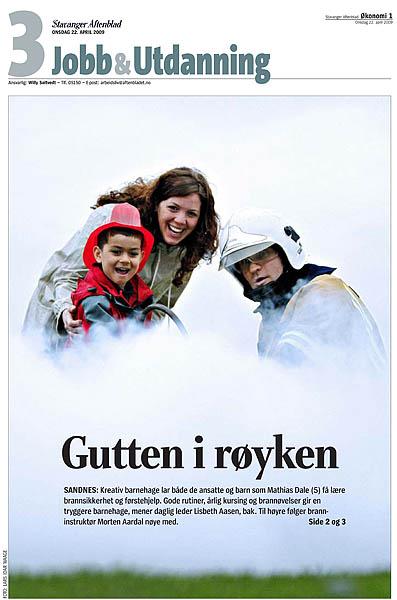 Slik så coveret ut på Jobb & Utdanning i Aftenbladet 22. april 2009