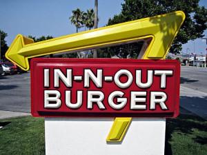 Den smakte som de fleste andre fastfood-burgere, også på In-N-Out Burger.