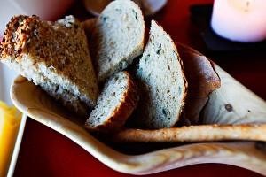 Masse godt brød og smør fikk vi til maten på Preikestolhytta.