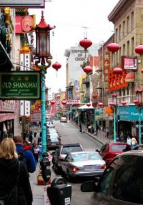 Dette er Chinatown i San Francisco. Ikke det helt store etter vår mening.