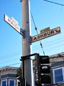 Krysset mellom gatene Haight og Ashbury