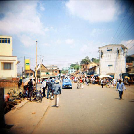 En gate i byen Fianarantsoa.