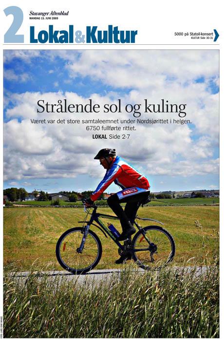 Slik så coveret ut i Del 2 i Stavanger Aftenblad mandag 15. juni 2009.