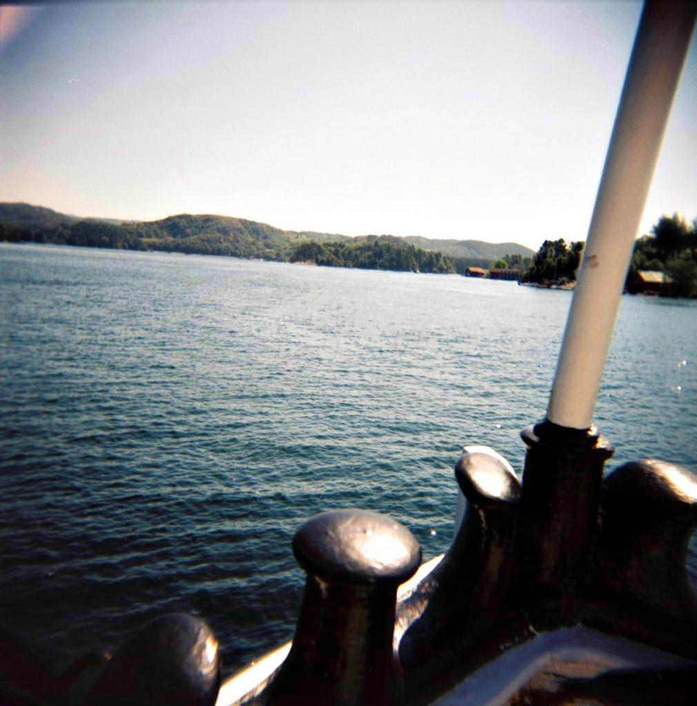 """Ombord på båten """"Høvding"""" på vei inn mot Egersund igjen."""